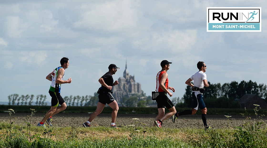 Run in Mont saint Michel